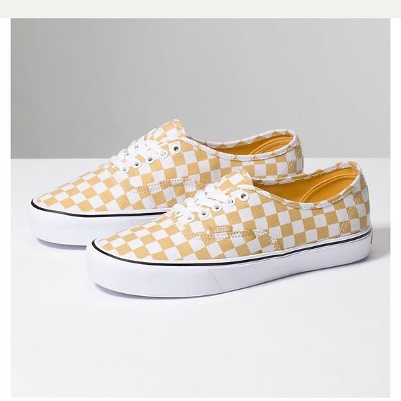 Vans Yellow Checkerboard | Poshmark